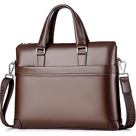 Túi xách cặp da đựng laptop da bò công sở T03 38x28x6cm