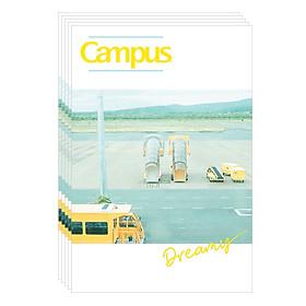 Lốc 5 Cuốn Vở A4 Kẻ Ngang Có Chấm Campus Dreamy NB-A4DR200 - ĐL 58-65 (200 Trang) - Giao Mẫu Ngẫu Nhiên