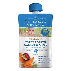 Hỗn Hợp Khoai Lang, Cà Rốt, Táo Hữu Cơ Xay Nhuyễn Bellamy's Organic