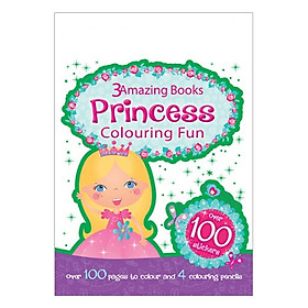 Sách tô màu 3 Amazing Books: Princess Colouring Fun