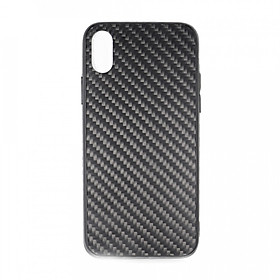 Carbon Fiber Phone Case 360° Protection Shockproof Cover Slim Fit Protection for iPhone X