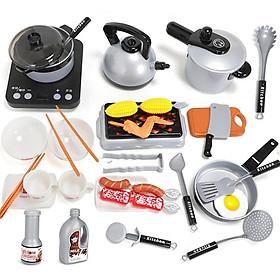 Bộ Đồ Chơi Nấu Ăn Kitchen 36 Chi Tiết Cho Bé - Hàng Loại 1 To, Đẹp