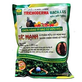 1kg Chế phẩm vi sinh Trichoderma TRIBAC. Nấm Đối Kháng cực mạnh. Ngăn chặn tuyến trùng, nấm bệnh gây vàng lá thối rễ. Ủ phân chuồng hoai mục