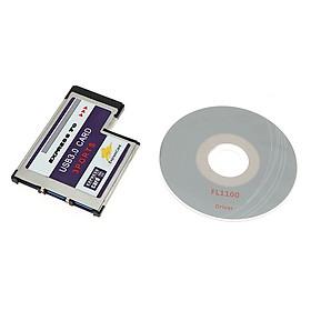Fun USB Expresscard Expansion Card 3 Port USB 3.0 Expresscard 34 54mm Expansion Card Expresscard to USB Adapter USB Express Card