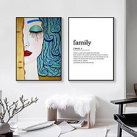 Combo Tranh treo tường gia đình vải canvas in 3D trang trí nghệ thuật hiện đại sang trọng
