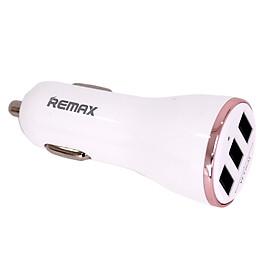 Tẩu Sạc Trên Ô Tô  Remax RCC-303, 3 Cổng USB + Tặng Kèm 1 Ghế Đỡ Điện Thoại Đa Năng T2 - Hàng Chính Hãng
