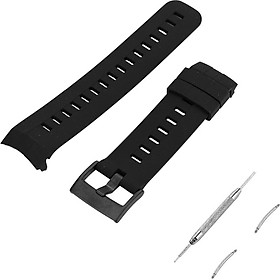 Outdoor Waterproof Rubber Watch Band Men's Watch-strap Steel Buckle for Suunto Spartan 3V