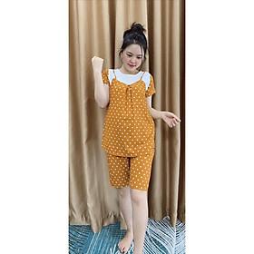 Bộ quần áo cộc cho mẹ bầu mùa hè siêu mát