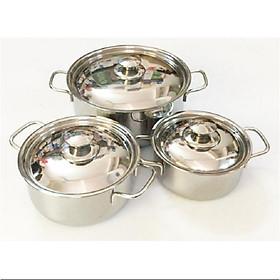 Bộ 3 nồi inox  shaps cao cấp dùng được bếp từ