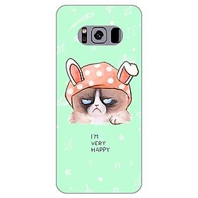 Ốp lưng dẻo cho Samsung Galaxy S8 Plus_Mèo Grumpy