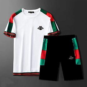 Bộ quần áo thể thao ngắn tay may bo cho bé trai, bé gái, bố mẹ, thun cotton - Quần áo trẻ em - SockiMall (200553)