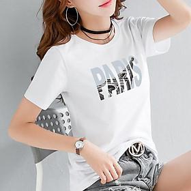 Áo thun nữ cổ tròn in chữ trẻ trung phong cách Hàn Quốc ( ANU002 )