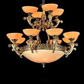 Đèn chùm đồng chao đá CD-6353-8-4