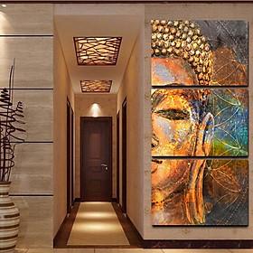 3Pcs/Set Oil Painting Buddha Figure Half Face Home None Frame Portrait
