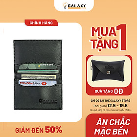 Ví Bóp Nam Nữ Nhỏ Gọn Cao Cấp Thời Trang Nhiều Ngăn Để Name Card Danh Thiếp Thẻ Galaxy Store GVMB03 (8x10.5cm)
