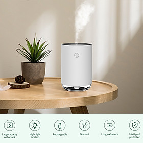 220ml Portable Humidifier Mini Cool Mist Humidifier with Night Light USB Personal Humidifier Auto Shut-Off Ultra-Quiet