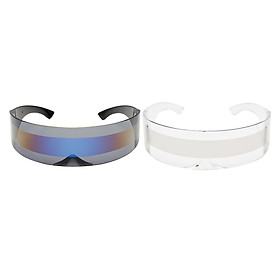 2pack Funny Space Alien Cyclop Visor Sunglasses Party Rave Anime Cosplay Glasses
