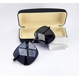 Mắt kính Unisex nam nữ DKY011D màu đen chống nắng, chống tia UV