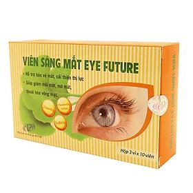 Viên sáng mắt Eye Future - Bảo vệ mắt, tăng cường thị lực, hỗ trợ điều trị cận thị, loạn thị, thoái hóa võng mạc. SP Chính hãng, đạt tiêu chuẩn GMP-WHO. Hộp 30 viên