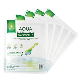 Combo 05 Mặt Nạ Sinh Học Dưỡng Ẩm COKO Aqua Nanocell Bio Skin (115g)
