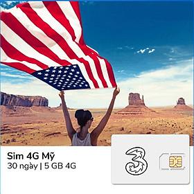 Sim du lịch Mỹ 30 ngày – 5GB 4G - Hàng chính hãng
