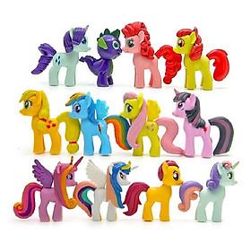 Bộ 12 ngựa Pony loại cao 6-7cm