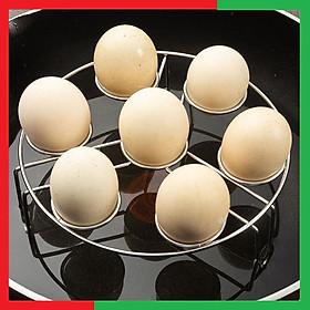 Giá hấp Inox hấp trứng,nướng trứng hấp thực phẩm đa năng 7 ô làm bằng inox 304 Cao Cấp,Giá hấp chắc chắn không bị rung,Chịu lực tốt,Màu Inox sáng và sang càng dùng càng bóng - Giá inox 304 hấp thực phẩm