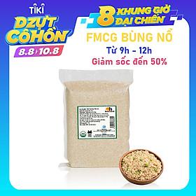 Hạt Quinoa (Diêm Mạch) Trắng Smile Nuts Túi 2kg - Sản phẩm hữu cơ được nhập khẩu từ Peru (Túi Quinoa 2kg tiện dụng và tiết kiệm)