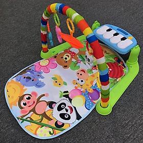 Thảm nhạc cho bé Trong giai đoạn từ 0-24 tháng tuổi, tặng kèm dụng cụ tưa lưỡi vệ sinh cho bé