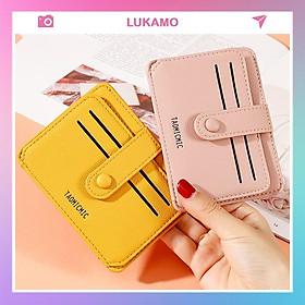 Ví nữ gấp 3 mini TAOMICMIC dễ thương nhỏ gọn bỏ túi cao cấp nhiều ngăn đựng tiền giá rẻ LUKAMO VD379