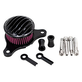 Professional Ribbed Air Cleaner Kit Intake Filter Kit