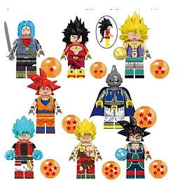 Mô hình nhân vật Dragon Ball Broly Trunks Gotenks Latiz Minifigure 08