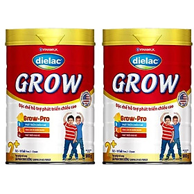 COMBO 2 HỘP SỮA BỘT DIELAC GROW 2+ 900G (CHO TRẺ TỪ 2 - 10 TUỔI)