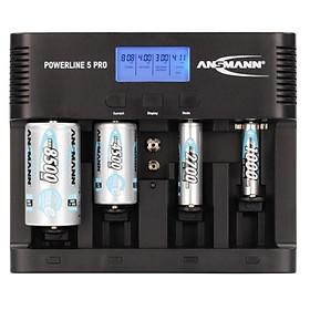 Bộ sạc pin POWERLINE 5 Pro ANSMANN - Hàng Nhập Khẩu