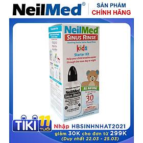 Bình (Bộ Dụng Cụ) Xịt Rữa Mũi Xoang Cho Bé Neilmed Sinus Rinse Paediatric Starter Kit (1 bình + 30 gói hỗn hợp muối rửa)