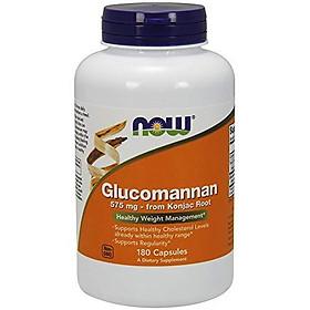 Viên Uống Now Glucomannan (Amorphophallus konjac) 575mg (180 Viên)