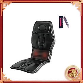 Nệm Massage Toàn Thân Hồng Ngoại Giúp Giảm Đau Nhức Xương Khớp, Giảm Mệt Mỏi, Cải Thiện Hệ Miễn Dịch Micro - Computer (Có dây sạc cho xe hơi) - Tặng kèm máy massage cầm tay mini - Hàng nhập khẩu