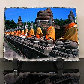 Đá thiên nhiên in hình Buddhism - đạo phật (86) . Đá để bàn trang trí đẹp