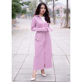 Áo chống nắng nữ liền thân, vải dày, dài tới gót chân, chống tia UV