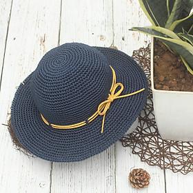 Mũ xanh than dây da - Mũ nón đội hè cho bé - Made By Bunny