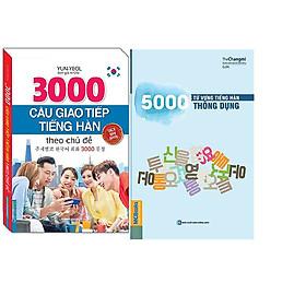 Combo 3000 Câu Giao Tiếp Tiếng Hàn Theo Chủ Đề (Sách Bản Quyền)+5000 Từ Vựng Tiếng Hàn Thông Dụng