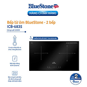 Bếp Âm Từ Đôi Bluestone ICB-6835 (5200W) - Hàng Chính Hãng
