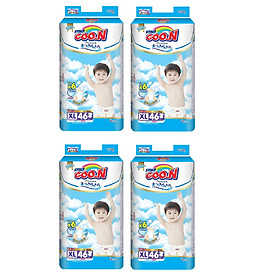 4 Gói Tã Dán Goo.n Premium Gói Cực Đại XL46 (46 Miếng)