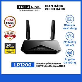 Bộ định tuyến không dây 4G LTE băng tần kép  AC1200 LR1200-TG - Hàng Chính Hãng