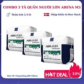 [Thấm hút 2.4 lít] Combo 3 tã quần người lớn Abena Abri Flex Premium M3 (14 miếng) giảm 10% - Nhập Khẩu Đan Mạch