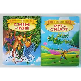 Combo 2 cuốn sách NHỮNG CÂU CHUYỆN ĐẠO ĐỨC ĐẶC SẮC: Chim Và Khỉ, Vẹt Và Chuột