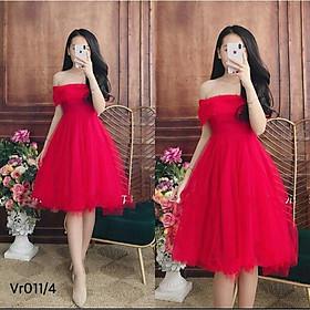 Đầm dự tiệc bẹt vai kết cườm TRIPBLE T DRESS - MS124V - Size M/L