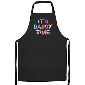 Tạp Dề Làm Bếp In họa tiết Đó là thời gian của bố