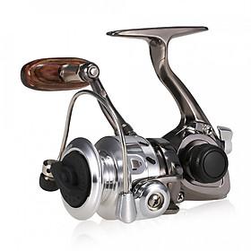 Hình đại diện sản phẩm Mini Fishing Spinning Reel 4.3:1 Ultra Smooth Lightweight Metal Ice Raft Fishing Reel With Reel Foot Covers