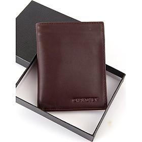 Ví bóp nam da bò Chakovet CKV223, kiểu ví dáng đứng bền đẹp sang trọng, ngăn đựng tiền có khóa kéo nhiều ngăn đựng thẻ tiện lợi